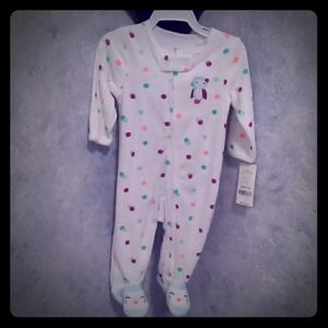 Girls Terry towel sleeper new with tags